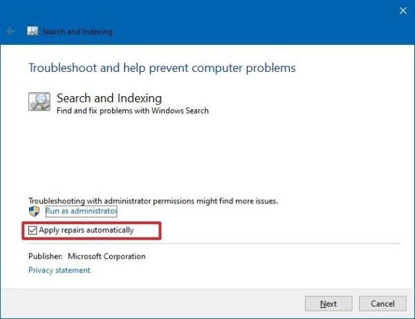 برطرف کردن مشکل سرچ کردن در ویندوز 10 با CMD