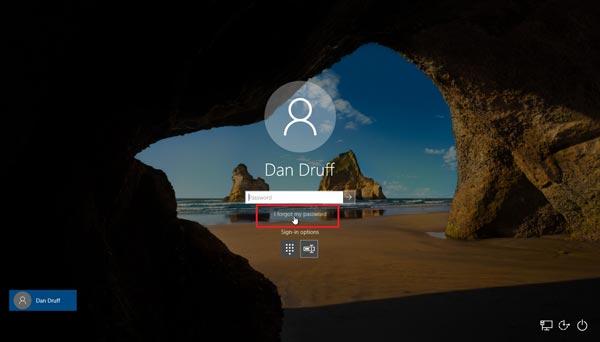 بازیابی حساب مایکروسافت ویندوز 10