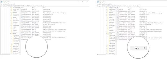 حل مشکل سرچ کردن در ویندوز 10 با تنظیمات ریجستری
