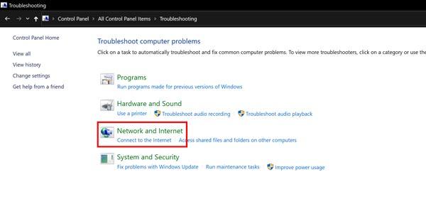 از عیب یابی خودکار برای حل مشکل limited access ویندوز استفاده کنید