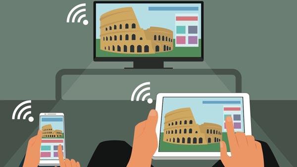اتصال بی سیم لپ تاپ به تلویزیون با استفاده از صفحه آینه