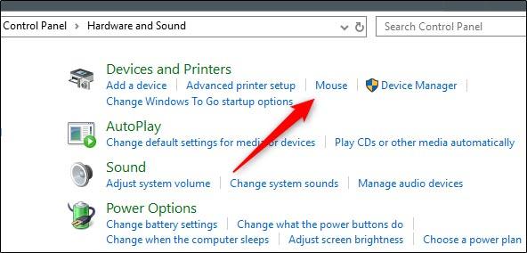 عوض کردن دکمه های موس از کنترل پنل ویندوز
