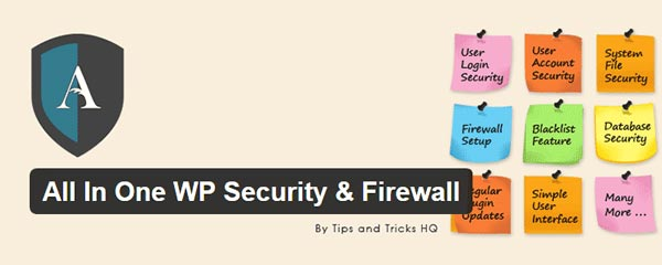 2- افزونه All in One WP Security & Firewall