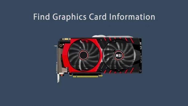 چگونه مشخصات کارت گرافیک کامپیوتر و لپ تاپ را پیدا کنیم ؟