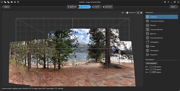 ساخت عکس پانوراما با Image Composite Editor