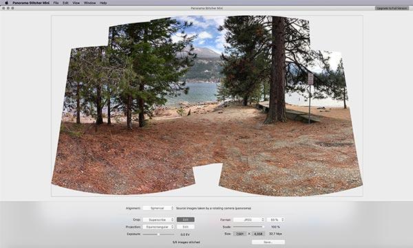 درست کردن عکس پانوراما با Panorama Mini Stitcher