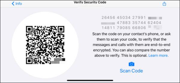 نوع رمزگذاری حساب واتساپ را بررسی کنید