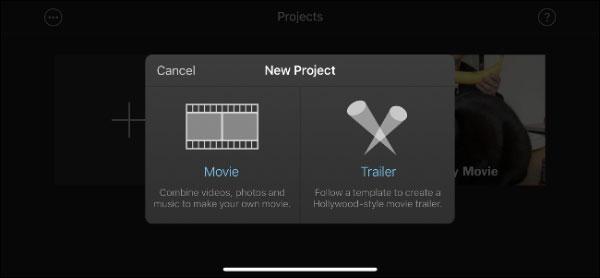 با برنامه iMovie در آیفون و آیپد تریلر بسازید