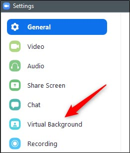 تغییر تصویر پشت تماس های ویدئویی در برنامه زوم