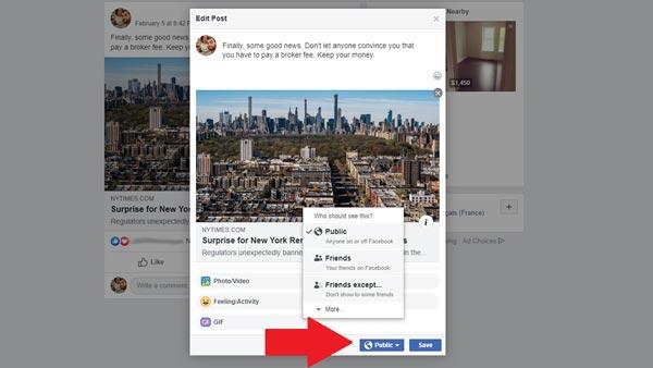 مخفی کردن پست های فیسبوک