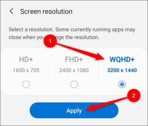 عوض کردن رزولوشن صفحه نمایش گلکسی اس 20