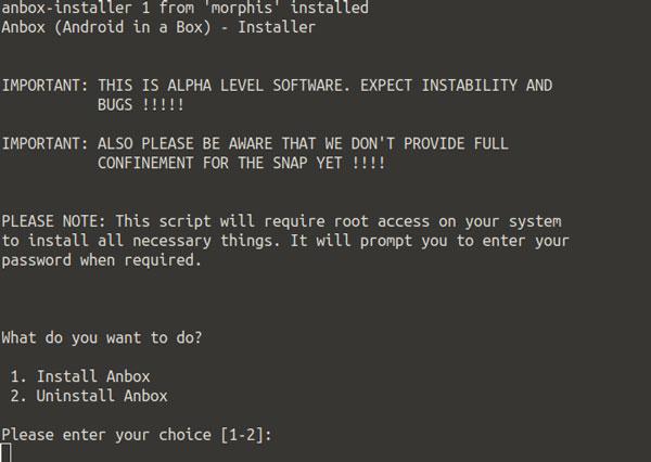 نصب Anbox در لینوکس
