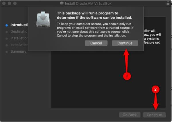 نصب VirtualBox در macOS