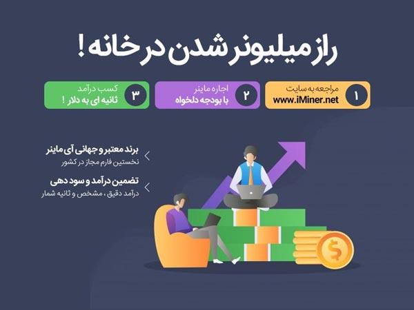 برای کسب درآمد ارزی در منزل فقط کافیست به سایت iMiner.net مراجعه کنید!