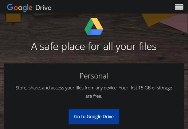 2- فضای ذخیره سازی آنلاین : گوگل درایو
