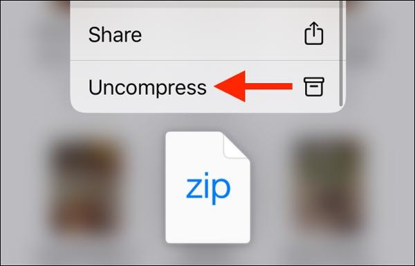 نحوه خارج کردن فایل ها از حالت زیپ در آیفون و آیپد