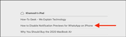 انتقال تب های سافاری با iCloud