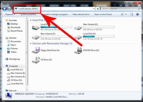 دسترسی به فایل های لینوکس از فایل اکسپلورر ویندوز10