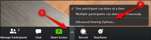 اجازه دادن کاربران برای شیر کردن صفحه نمایش خود