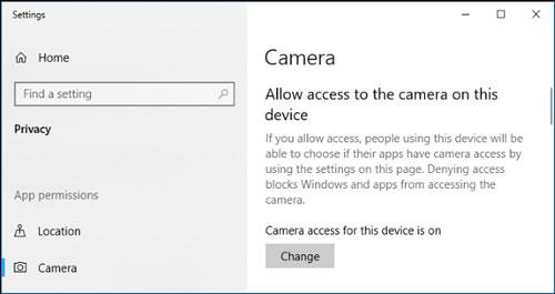تنظیمات دوربین ویندوز 10 را بررسی کنید
