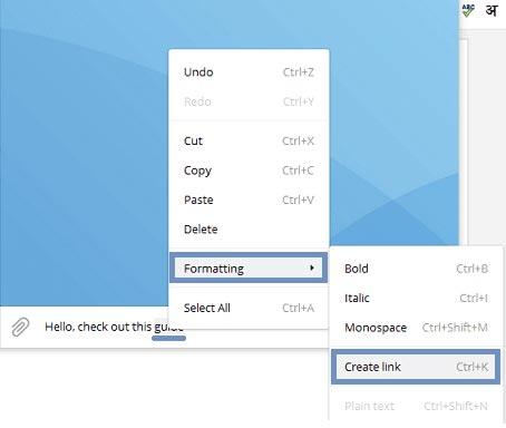 متن لینک دار در تلگرام سیستم