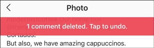 نحوه حذف کامنت اینستاگرام