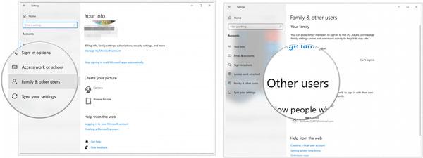 حذف پروفایل ویندوز 10 و سایر کاربران