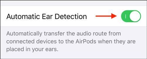 غیرفعال کردن تشخیص خودکار گوش ایرپاد