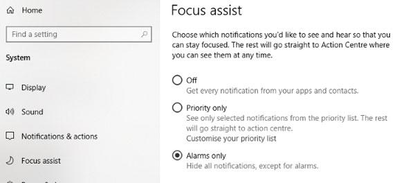 اعلان ها را در ویندوز 10 غیرفعال کنید