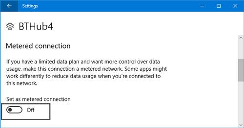 اندازه گیری اینترنت (Metered Connection) در ویندوز 10 را فعال کنید