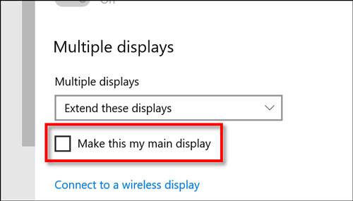 نحوه تغییر مانیتور اصلی در ویندوز 10