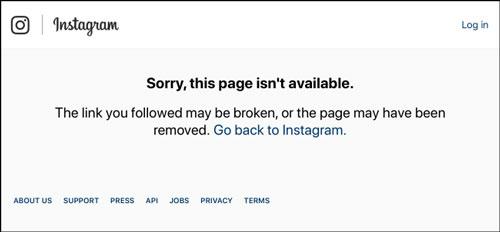 اکانت اینستاگرام شما به صورت موقت غیر فعال شده است
