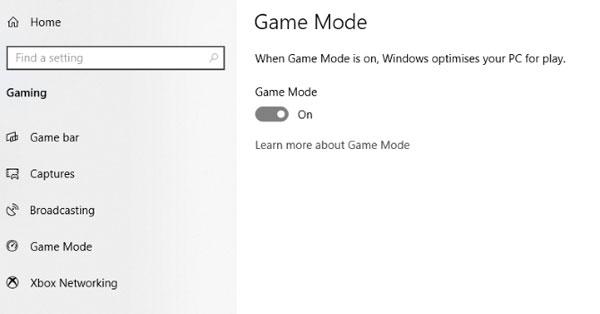 بهینه سازی ویندوز 10 با حالت گیمینگ