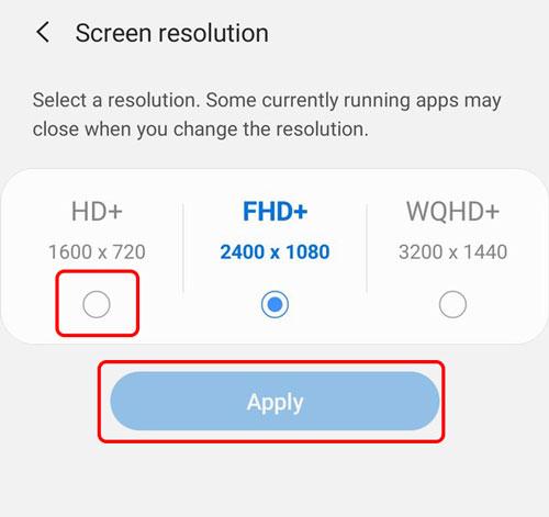 کاهش رزولوشن صفحه نمایش گوشی