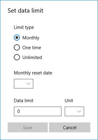 محدودیت استفاده از اینترنت را در ویندوز 10 تنظیم کنید