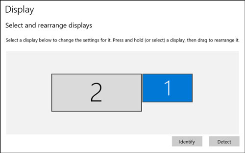 نحوه تغییر نمایش مانیتور ها در ویندوز 10