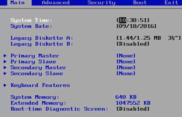 دما پردازنده را از بایوس (BIOS) بررسی کنید