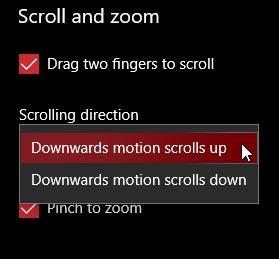 سفارشی کردن قابلیت دو انگشت لپ تاپ