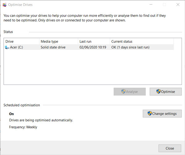 بهینه سازی هارد دیسک