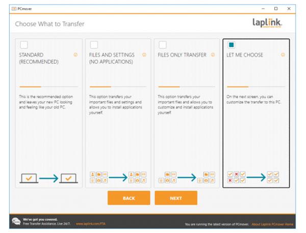 نحوه استفاده از Laplink PCMover برای انتقال ویندوز به هارد جدید