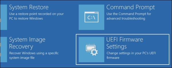 نحوه دسترسی به تنظیمات UEFI