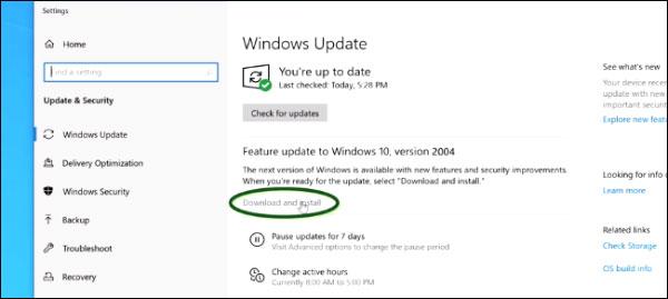 نحوه آپدیت ویندوز 10 به نسخه ماه مه