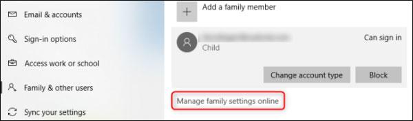 نحوه کنترل اکانت فرزندان در ویندوز 10