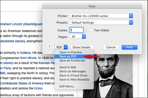 نحوه ذخیره سایت به عنوان PDF در مک