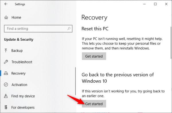 نحوه حذف آپدیت ماه مه ویندوز 10 از تنظیمات