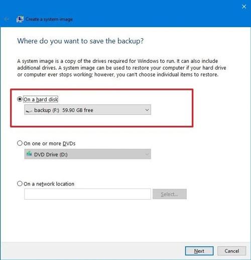 تهیه نسخه پشتیبان از ویندوز 10