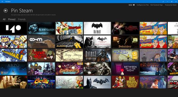 اضافه کردن بازی های استیم به منوی استارت ویندوز 10 به صورت زنده