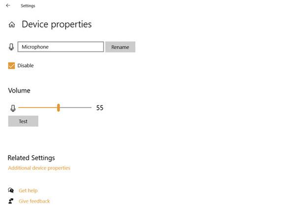 از Device Properties استفاده کنید