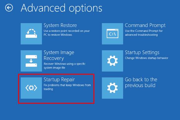 حل مشکل your pc need to repaird با تعمیر خودکار ویندوز