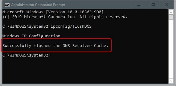 پاک کردن حافظه کش DNS ویندوز